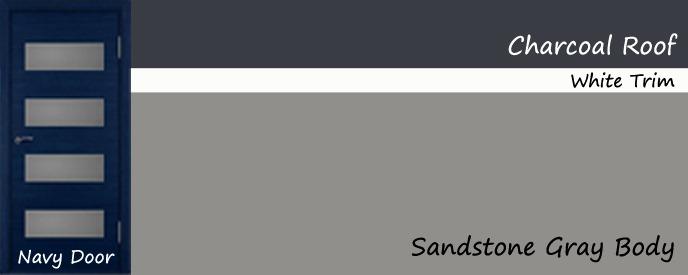 - Grey and blue color scheme ...