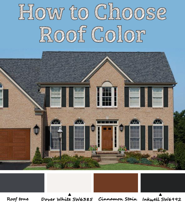 How to pick roof color let hue bias be your guide - Roof house color combinations ...