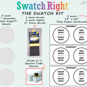 Swatch Right color sample decal