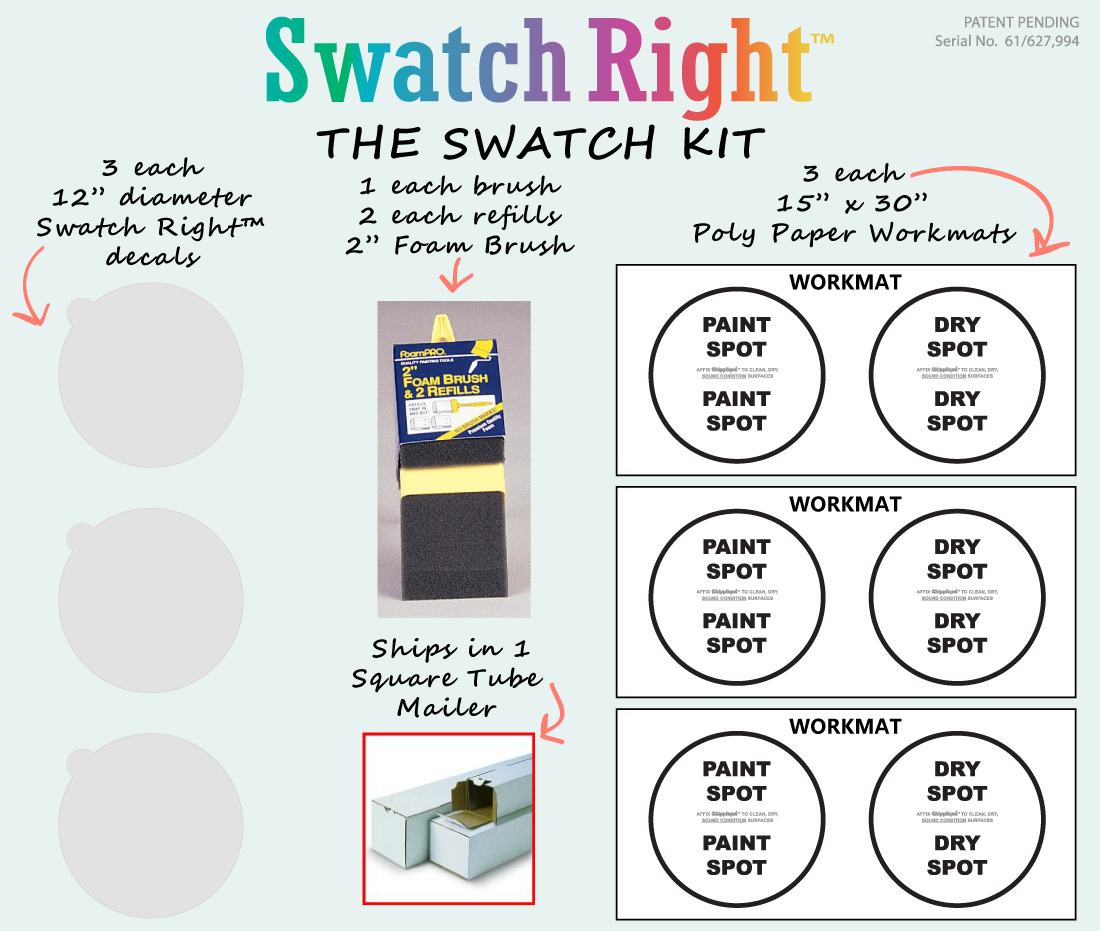 A Paint Color Swatch Kit