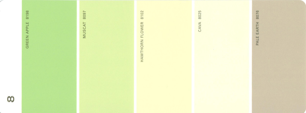 Light Green Paint martha stewart paint 5-color palette card #08 - thelandofcolor