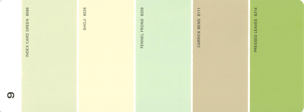 Martha Stewart Paint 5-Color Palette Card #09