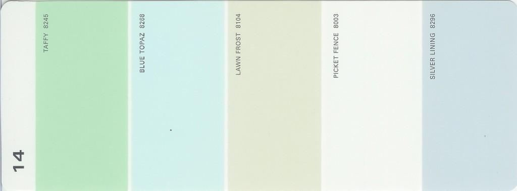 martha stewart paint 5 color palette card 14. Black Bedroom Furniture Sets. Home Design Ideas