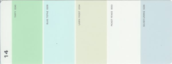 Martha Stewart Paint 5-Color Palette Card #14