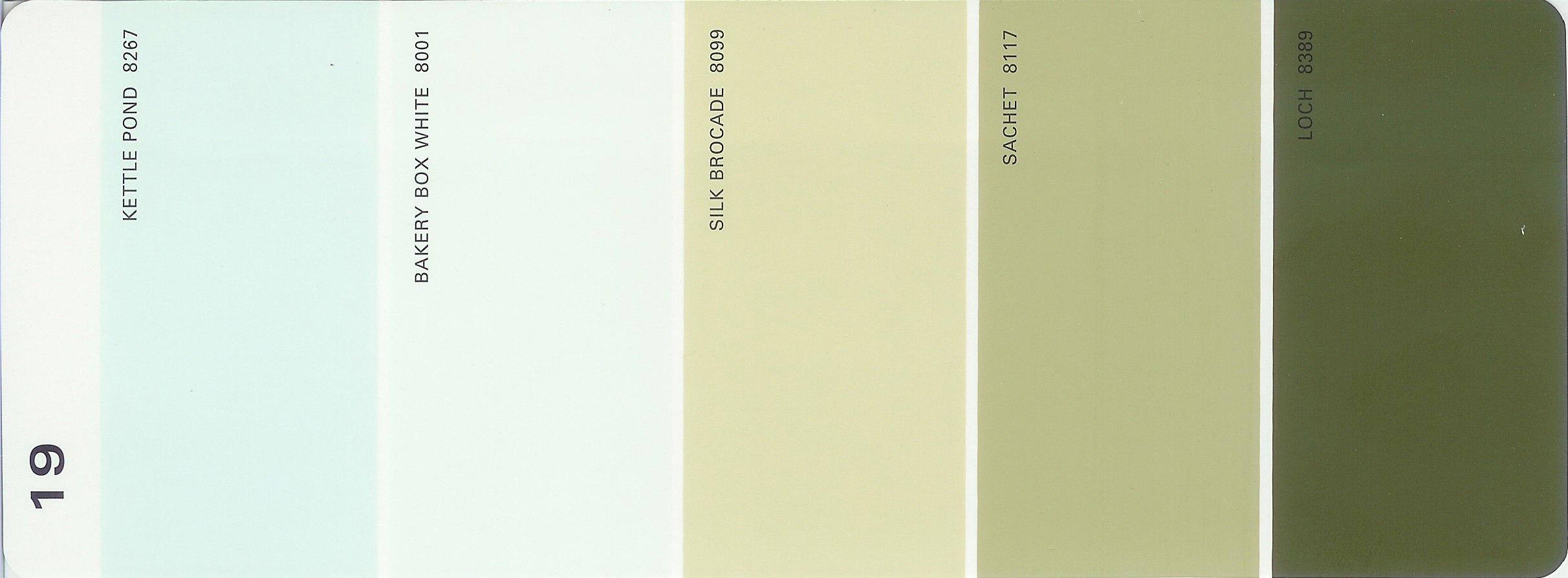 Martha stewart paint 5 color palette card 19 for Paint color palette