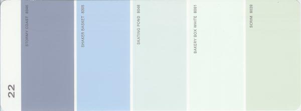 Martha Stewart Paint 5-Color Palette Card #22