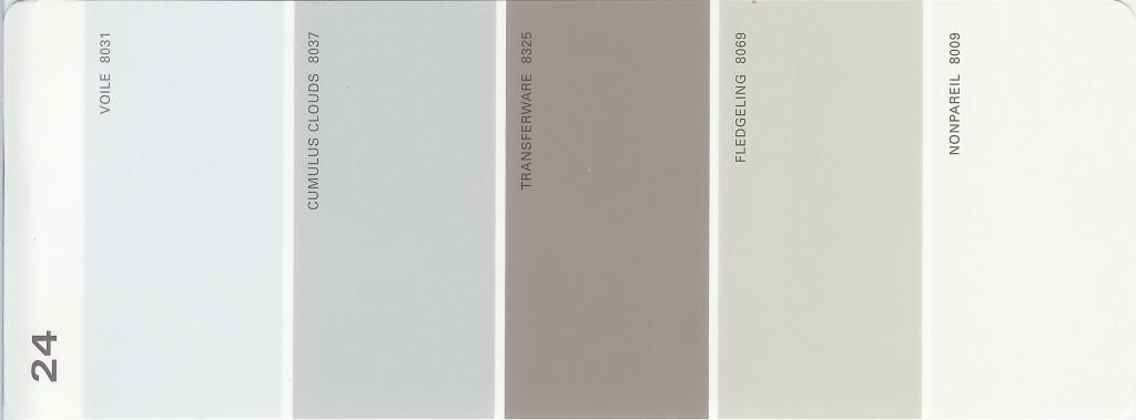 Martha Stewart Paint 5 Color Palette Card 24