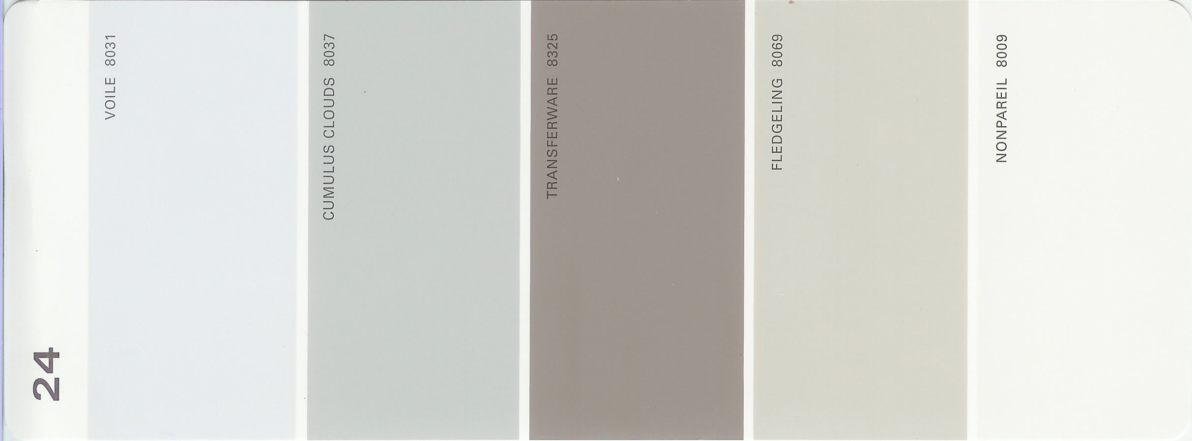 Martha stewart paint 5 color palette card 24 for Paint color palette