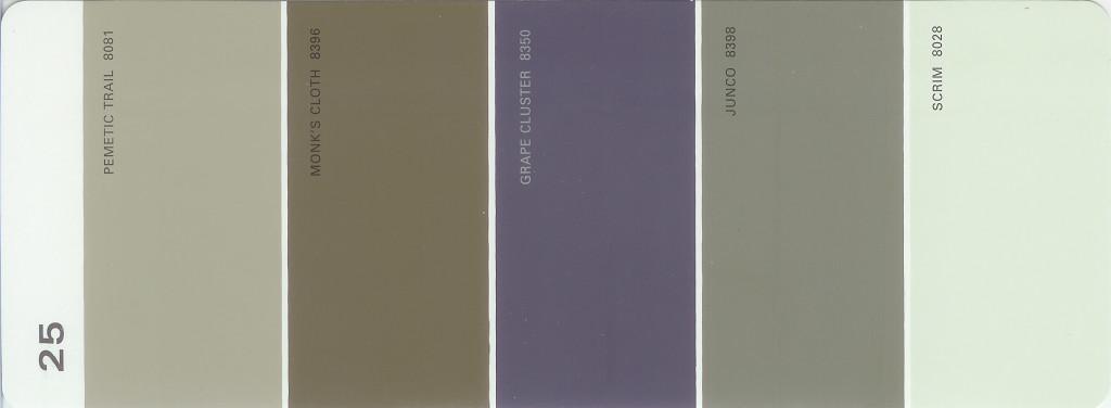 martha stewart paint 5 color palette card 25. Black Bedroom Furniture Sets. Home Design Ideas