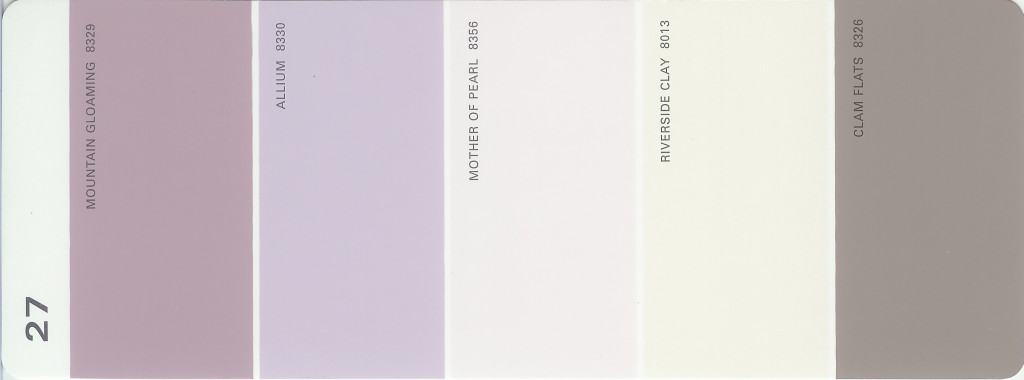 Martha Stewart Paint 5-Color Palette Card #27