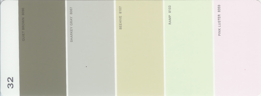 Martha Stewart Paint 5-Color Palette Card #32