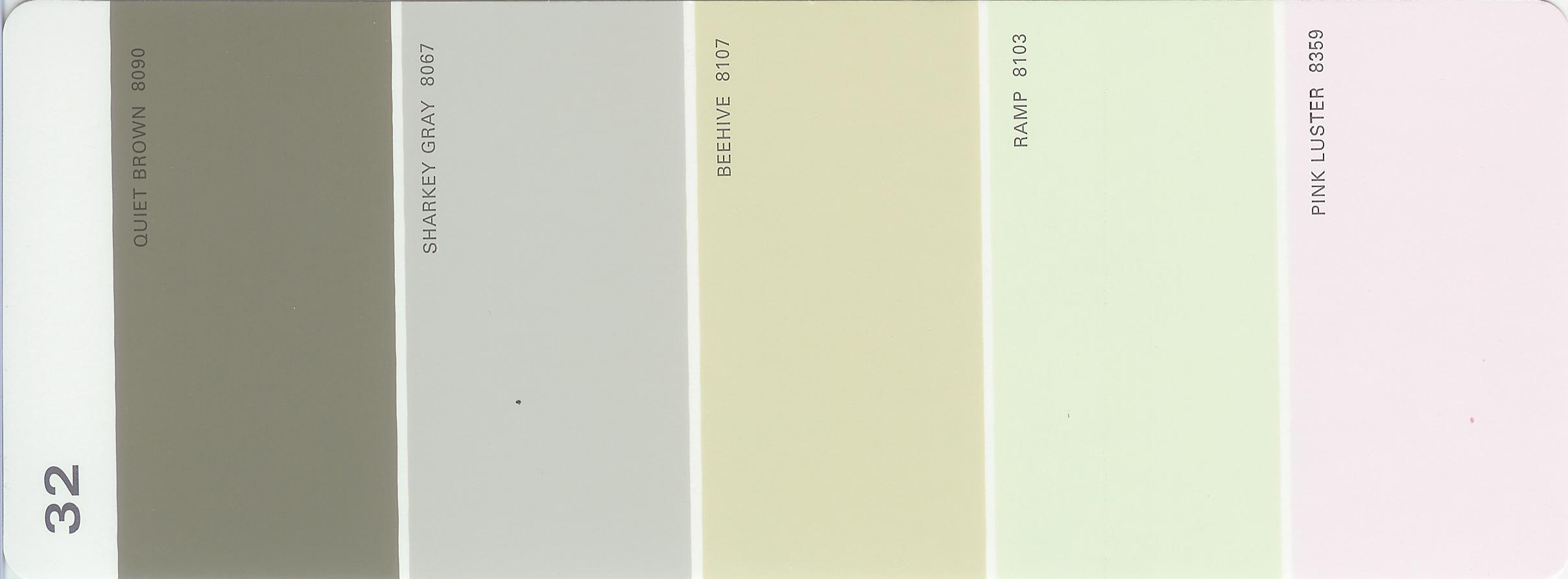 Martha stewart paint 5 color palette card 32 for Martha stewart exterior paint colors