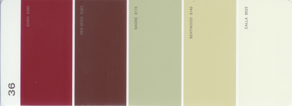 Martha Stewart Paint 5-Color Palette Card #36
