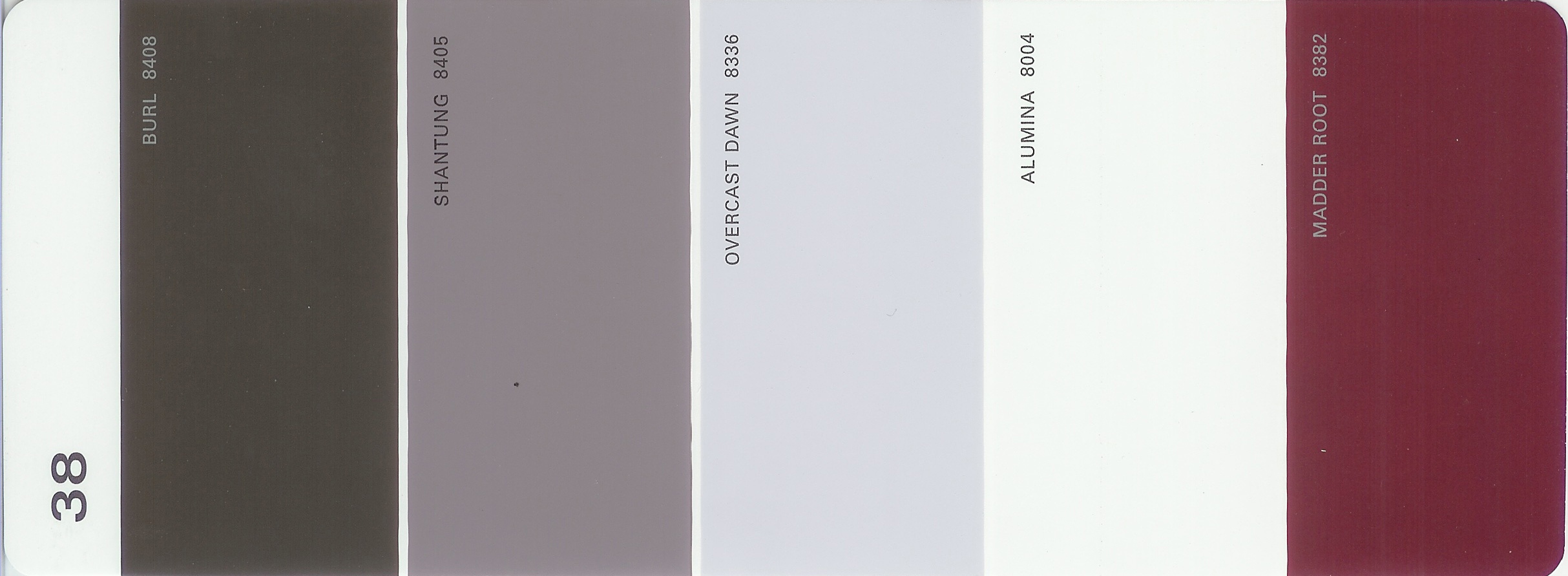 Martha Stewart Paint 5 Color Palette Card 38