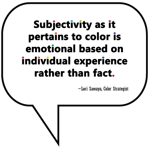 subjectivity as it pertains to color is emotional