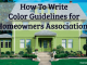 HOA Color Guidelines