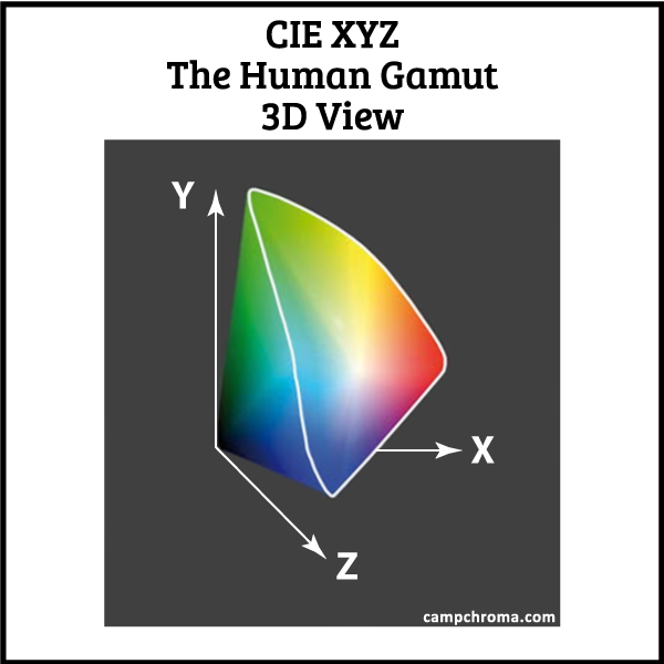 The Human Gamut of Color 3D