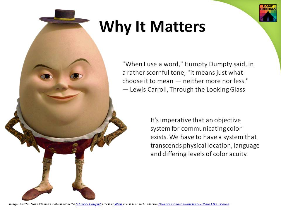 Slide from Camp Chroma Online Color Training