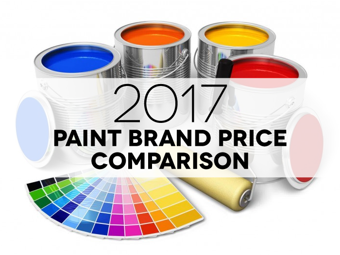 Paint Price Comparison 2017 Infographic Includes 22 Major Brands