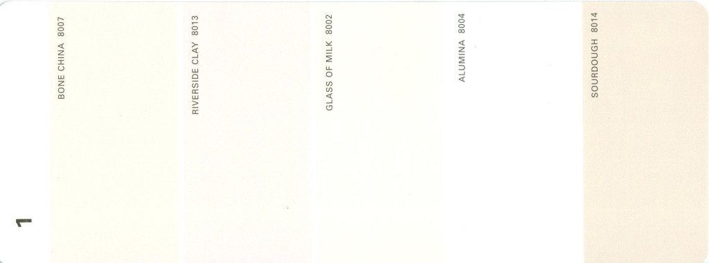 Martha Stewart Paint 5-Color Palette Card #01