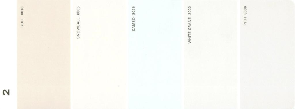 Martha Stewart Paint 5-Color Palette Card #02