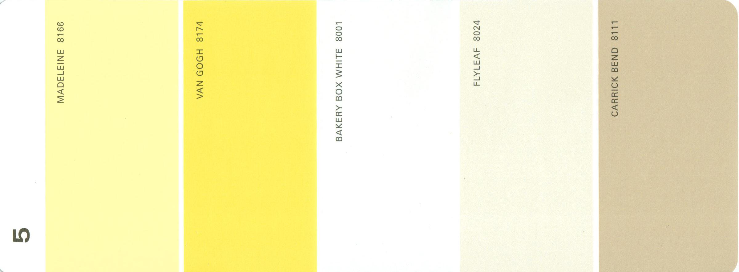 Martha stewart paint 5 color palette card 05 for Lrv paint color chart