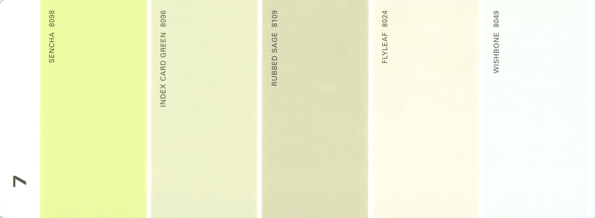 Martha stewart paint 5 color palette card 07 for Paint color palette