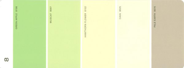 Martha Stewart Paint 5-Color Palette Card #08