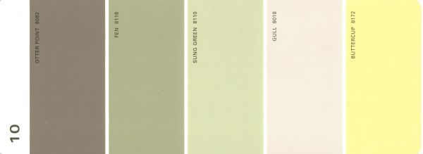 Martha Stewart Paint 5-Color Palette Card #10