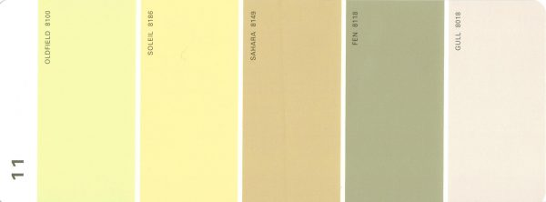 Martha Stewart Paint 5-Color Palette Card #11