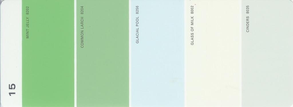 Martha Stewart Paint 5-Color Palette Card #15