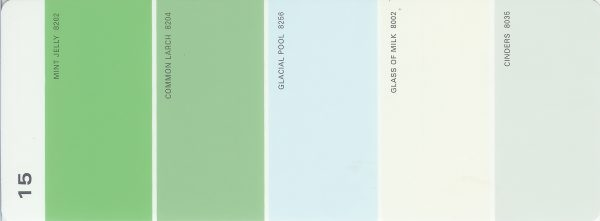 Martha Stewart Paint 5-Color Palette Card #15