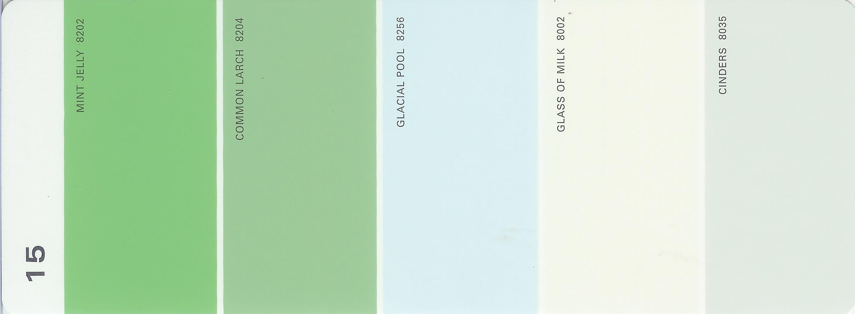 Martha Stewart Paint 5 Color Palette Card 15