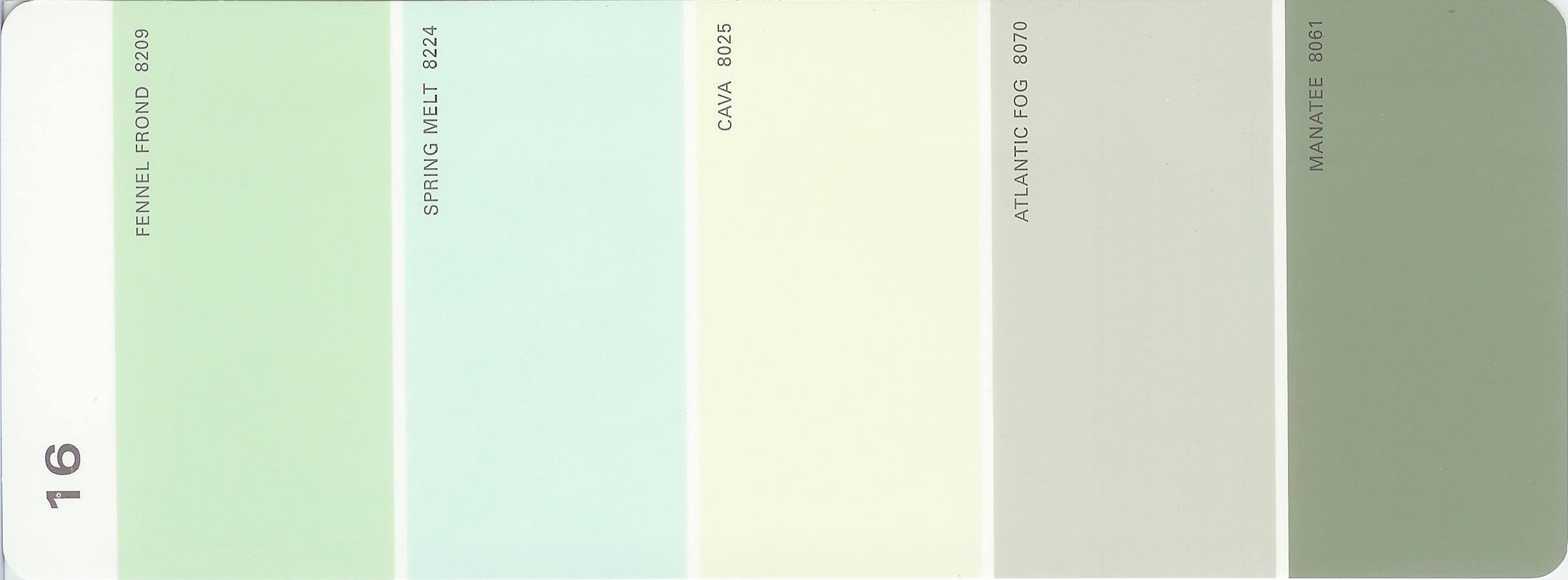 Martha Stewart Paint 5 Color Palette Card 01