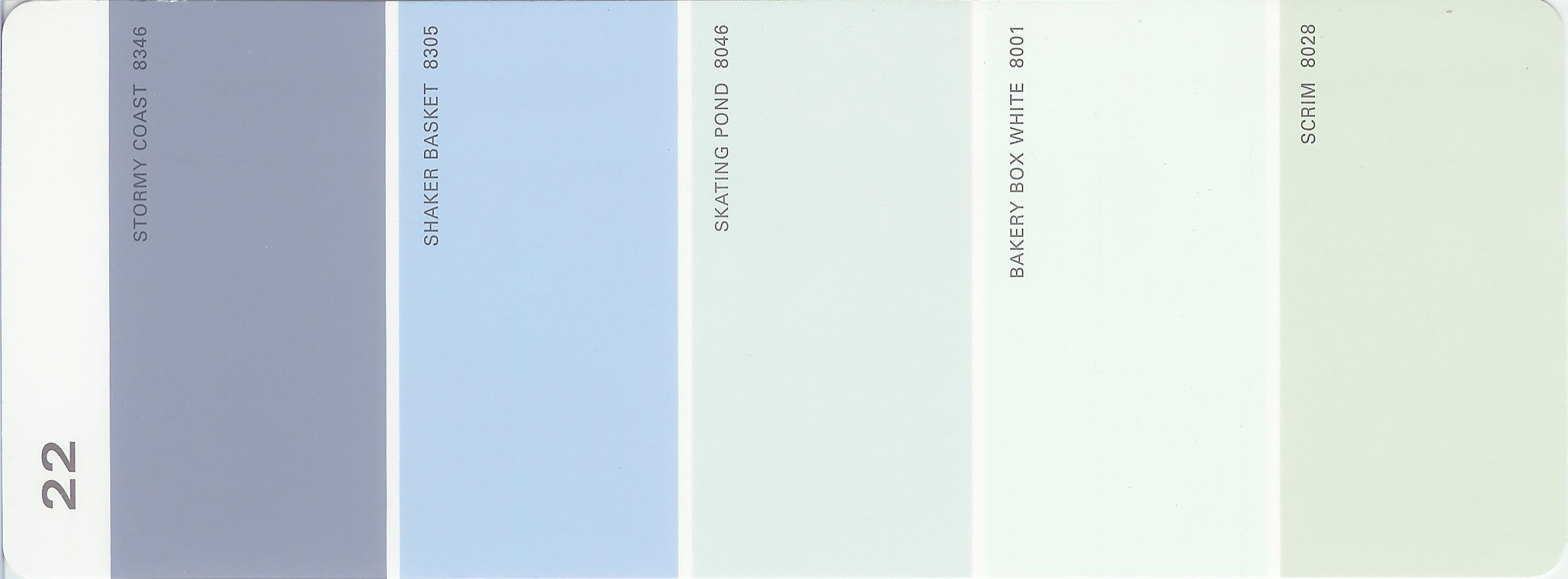 Martha Stewart Paint 5 Color Palette Card 22