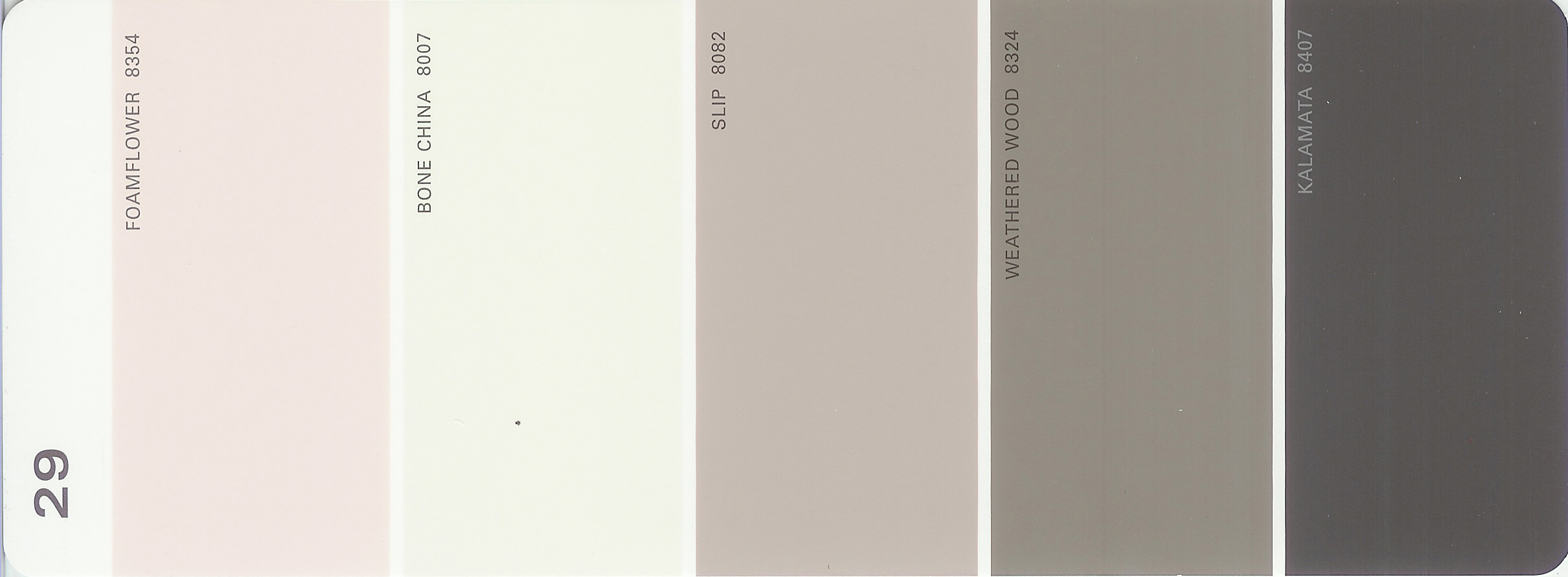 Martha Stewart Paint 5 Color Palette Card 29