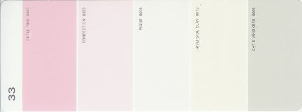 Martha Stewart Paint 5-Color Palette Card #33