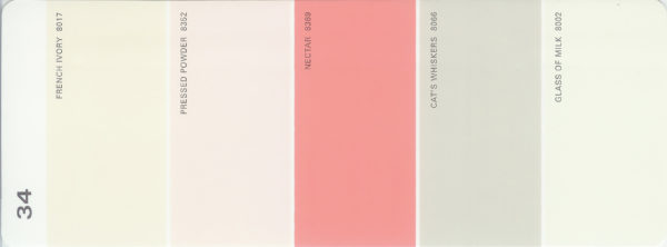 Martha Stewart Paint 5-Color Palette Card #34
