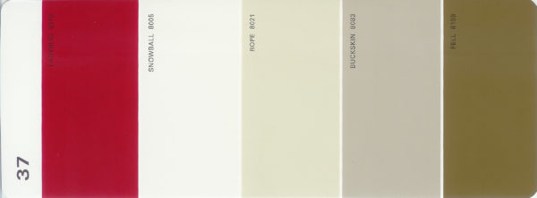 Martha Stewart Paint 5-Color Palette Card #37