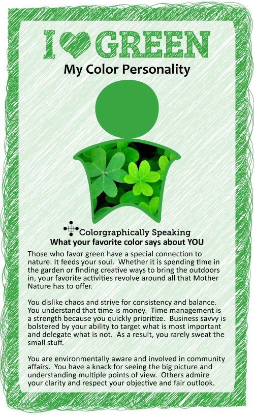importance of green color essay Colors play an important role in our lives they can remind us of a place, a time of  year, or our favorite traditions, and can also shape the way.