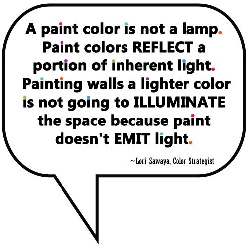 quote from Lori Sawaya, Color Expert