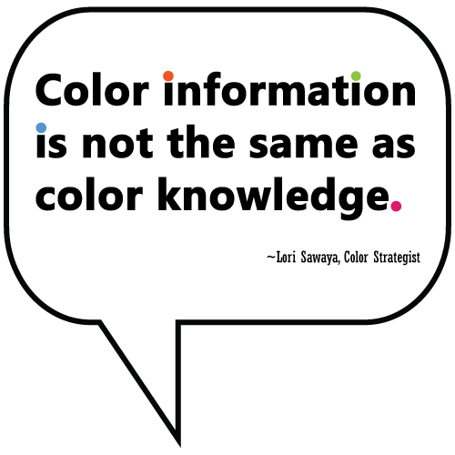color information is not the same as color knowledge