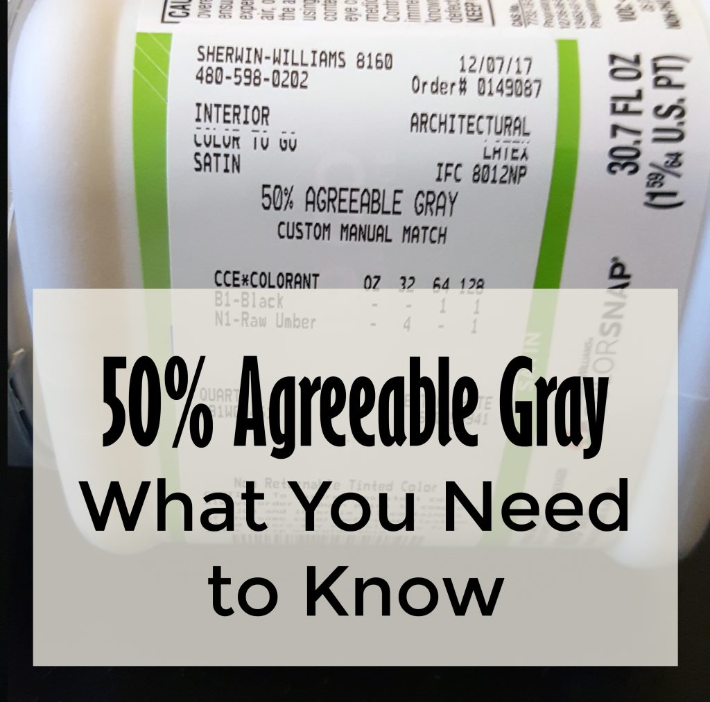 Agreeable Gray Cut 50%