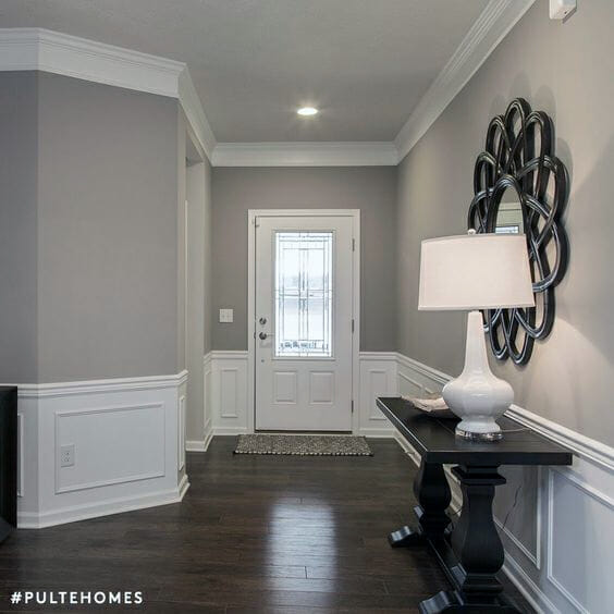 Sherwin Williams Classic French Gray Cabinet Color Sherwin: Mindful Gray SW 7016 And Dorian Gray SW 7017