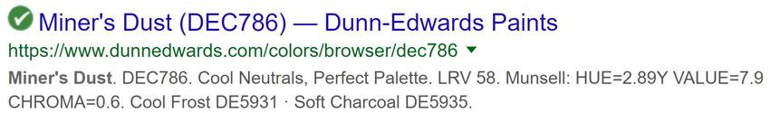 Dunn Edwards Miners dust